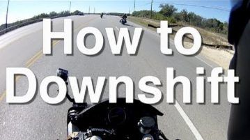 How To Downshift A Motorcycle